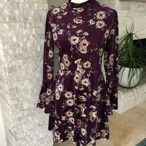 As U Wish purple velvet dress sz L